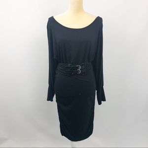Cache Dress Belted open back Stretch